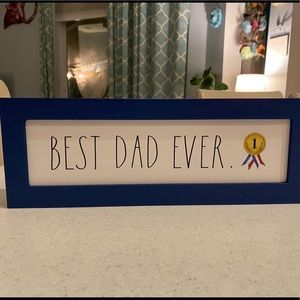 🥇Rae Dunn BEST DAD EVER Rustic Block Sign